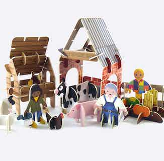 Farmyard   Eco-Friendly Children's Building Playset   Ages 4-10 from Playpress Toys in Toys & Games, Sustainable Homeware & Leisure