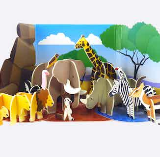 Savannah Animals   Eco-Friendly Children's Building Playset   Ages 4-10 from Playpress Toys in Toys & Games, Sustainable Homeware & Leisure