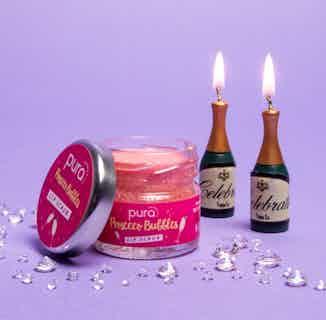 Vegan Exfoliating Lip Scrub   Prosecco Bubbles   28g from Pura Cosmetics in Lips, Skincare