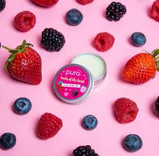 Vegan Revitalising Lip Balm   Fruits of the Forest   10ml from Pura Cosmetics in Lips, Skincare