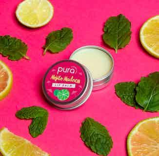 Vegan Revitalising Lip Balm   Mojito Madness   10ml from Pura Cosmetics in Lips, Skincare