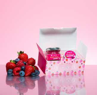 Vegan & Recyclable Lip Scrub & Balm Duo Gift Set   Raspberry & Forest Fruits from Pura Cosmetics in Gift Sets, Sustainable Beauty & Health