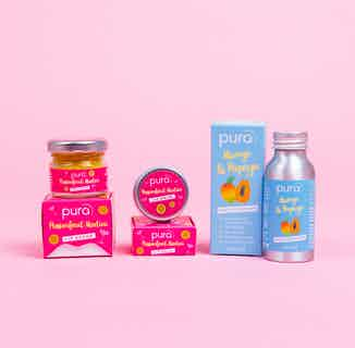 Vegan Lip & Hand Care Bundle   Lip Balm, Scrub & Hand Cleanser   Tropical from Pura Cosmetics in Gift Sets, Sustainable Beauty & Health