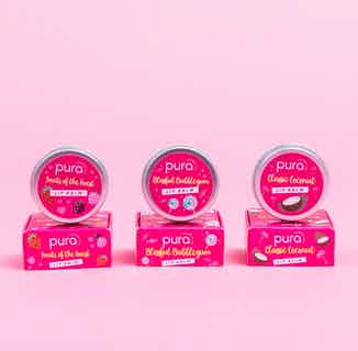 Vegan Hydrating Lip Balm Trio Bundle   Various Scents   10ml x 3 from Pura Cosmetics in Gift Sets, Sustainable Beauty & Health