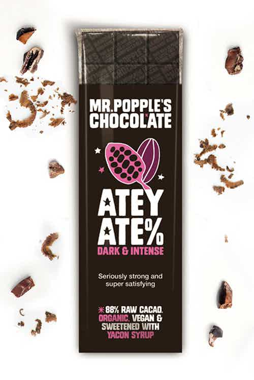 ATEY ATE% - 88% Raw Cacao - Yacon Sweetened - 35g from Mr Popple's Chocolate in Bars, Chocolate