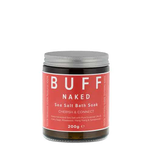 NAKED Cherish and Connect Sea Salt Bath Soak, 200g from Buff Natural Body Care in Bath & Shower, Health & Beauty