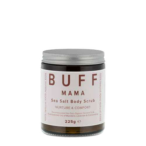 MAMA Nurture and Comfort Sea Salt Body Scrub 225g from Buff Natural Body Care in Bath & Shower, Health & Beauty