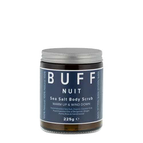 NUIT Warm Up and Wind Down Sea Salt Body Scrub 225g from Buff Natural Body Care in Bath & Shower, Health & Beauty