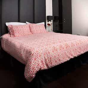 Duvet Cover Set Fair Trade Organic Shimla Chilli from Their story in Bedding, Bedroom