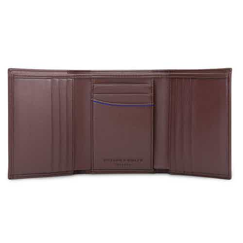 Trifold Wallet for Key Chain in Brown from Watson & Wolfe in Wallets & Card Holders, Accessories