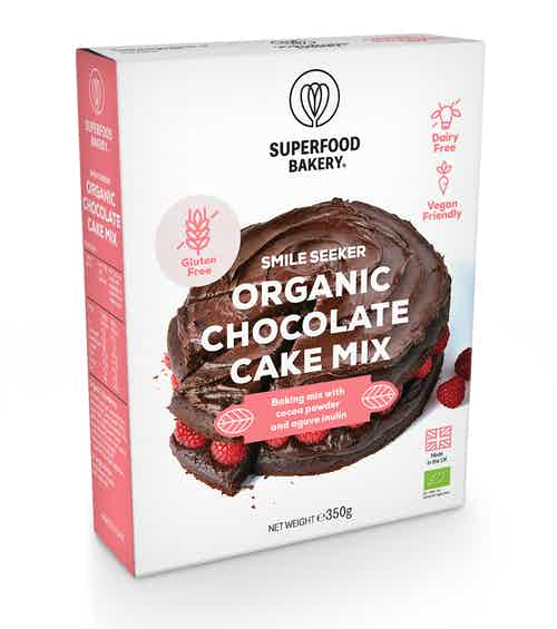 Organic Smile Seeker Chocolate Cake Mix from Superfood Bakery in Baking, Food & Drink