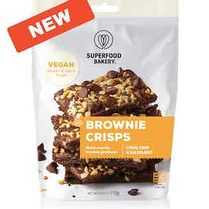 Brownie Crisps (Choc Chip & Hazelnut) from Superfood Bakery in Grocery, Food