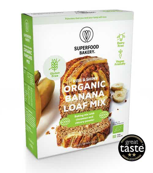 Organic Rise & Shine Banana Loaf Mix from Superfood Bakery in Baking, Food & Drink