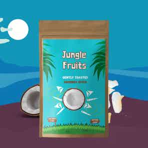 Toasted Coconut Flakes 8x25g from Jungle Fruits in Snacks & Treats, Food