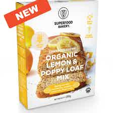Zesty Cheer Lemon & Poppy Loaf mix from Superfood Bakery in Baking, Food & Drink