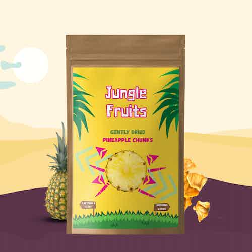 Gently Dried Pineapple Chunks 8x30g from Jungle Fruits in Snacks & Treats, Food & Drink