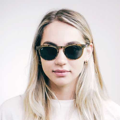 Pluma | Green leaf from Bird Sunglasses in Sunglasses, Accessories