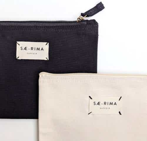 Black Zip Pouch from Sae-Rima in Cosmetics Bag, Makeup & Cosmetics