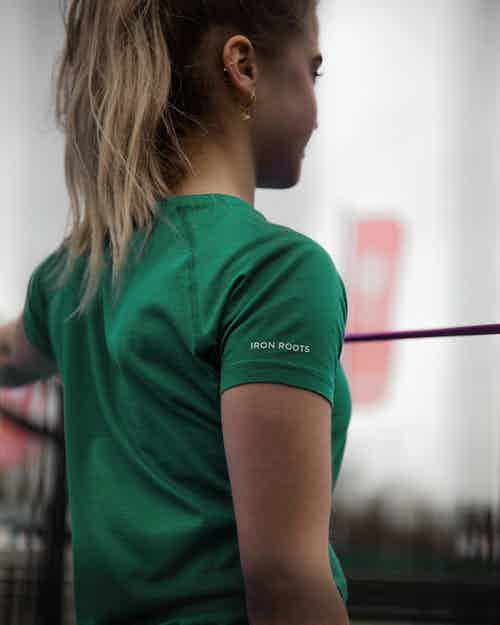 Iron Roots Beechwood Performance T-Shirt - Jade Green from Iron Roots in Sportswear, Activewear