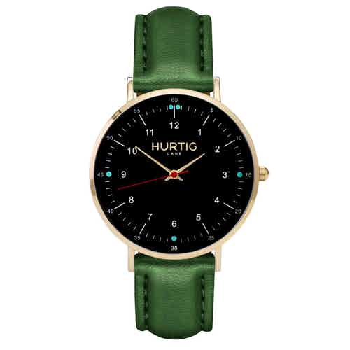 Moderna Vegan Leather Watch Gold, Black & Lilac from Hurtig Lane in Watches, Accessories