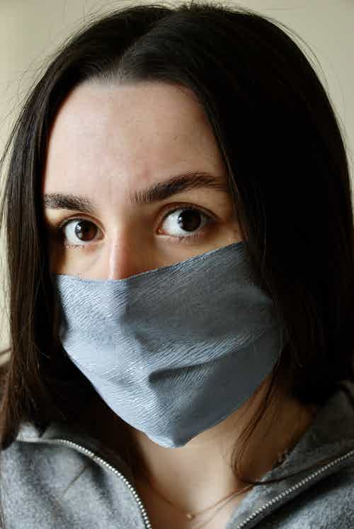 Blue Bark Face Covering from Beatrice Bayliss in Face Masks, Accessories