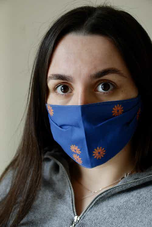 BB Patterned Face Covering from Beatrice Bayliss in Face Masks, Accessories
