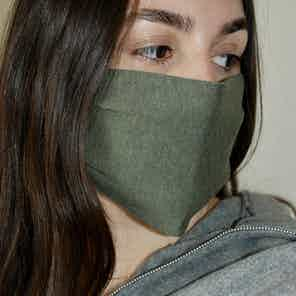 Olive Face Covering from Beatrice Bayliss in Face Masks, Accessories