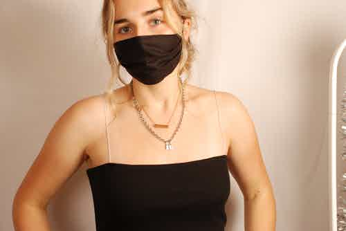Anthracite Face Covering from Beatrice Bayliss in Face Masks, Accessories