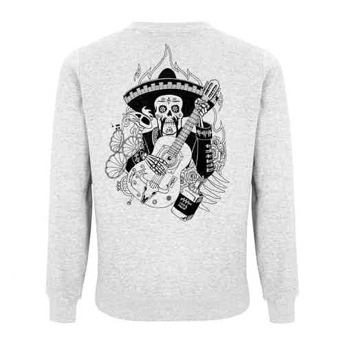Día de Muertos White Sweatshirt from Audio Architect Apparel in Sweaters, Tops