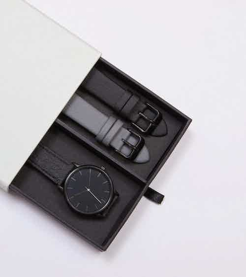 Black & Piñatex   Moment Gift Set from Votch in Watches, Accessories