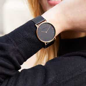 Rose Gold & Black with Black | Mesh Classic from Votch in Watches, Accessories