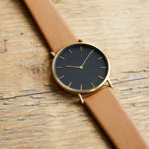 Gold & Black with Tan | Classic from Votch in Watches, Accessories