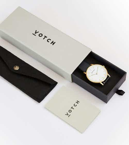 Rose Gold & Rose Gold with Black | Mesh Petite from Votch in Watches, Accessories