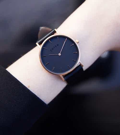Rose Gold & Black with Black | Classic from Votch in Watches, Accessories
