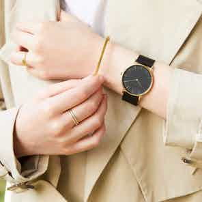 Gold & Black with Black | Mesh Classic from Votch in Watches, Accessories