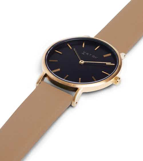 Gold & Black with Tan | Petite from Votch in Watches, Accessories
