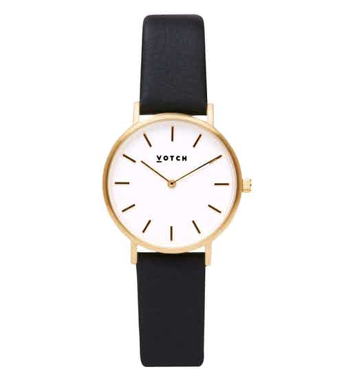 Gold Bangle with Gold & Black Petite Watch from Votch in Watches, Accessories
