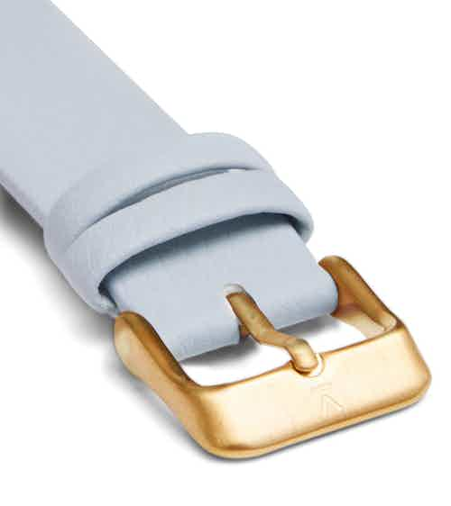Light blue with brushed gold buckle   18mm from Votch in Watch Straps, Watches