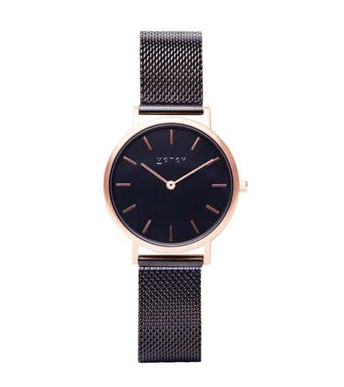 Rose Gold & Black with Black | Mesh Petite from Votch in Watches, Accessories