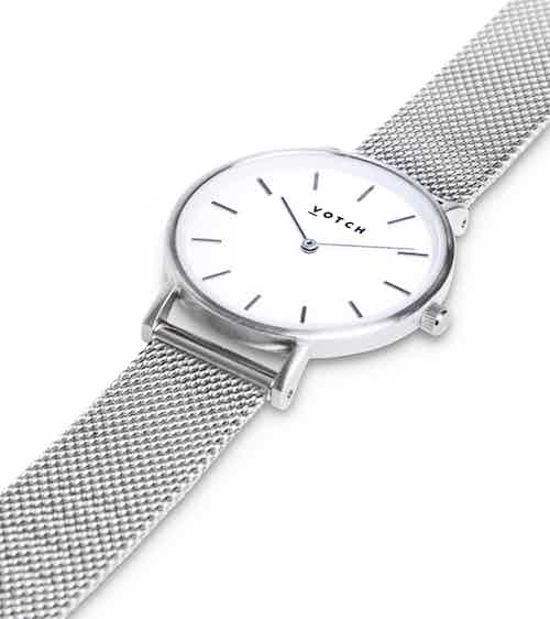 Silver & Silver | Mesh Petite from Votch in Watches, Accessories