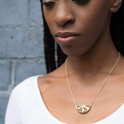 Wedge Necklace, Gold from Little by Little in Necklaces, Jewellery