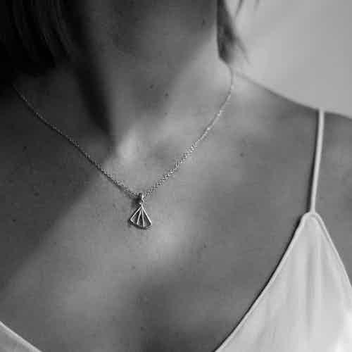 Wedge Fan Necklace, Gold from Little by Little in Necklaces, Jewellery