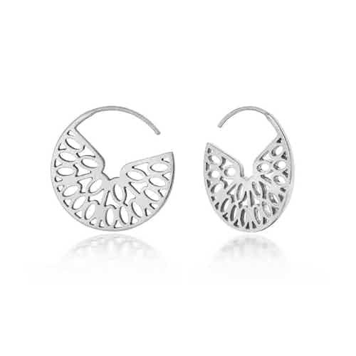 Seville Hoops, Silver from Little by Little in Earrings, Jewellery