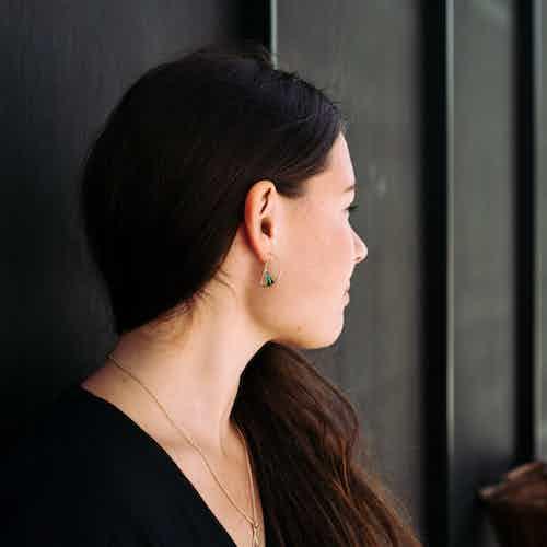 Wedge Split Earrings, Enamel from Little by Little in Earrings, Jewellery