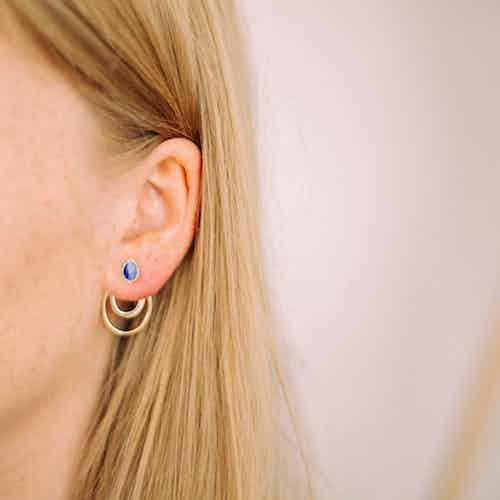 Apple Pip Stud Earrings, Gold from Little by Little in Earrings, Jewellery