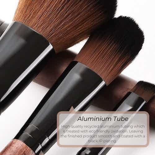 Full Vegan Makeup Brush Set- Sustainable Wood and Black from Hurtig Lane in Brushes & Tools, Makeup & Cosmetics