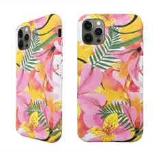 Eco Friendly Printed Floral Yellow iPhone 12 Pro Case from Uunique London in Phone Cases, Electronics