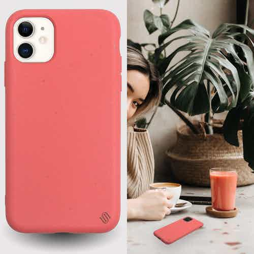 Eco Friendly Coral iPhone 11 Case from Uunique London in Phone Cases, Electronics