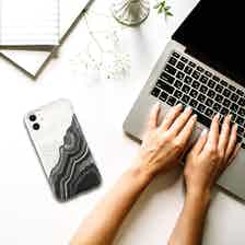Eco Friendly Printed Black/White iPhone 11 Case from Uunique London in Phone Cases, Electronics
