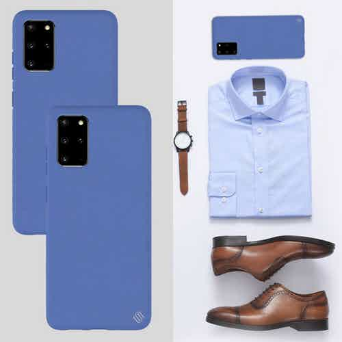 Eco Friendly Blue Samsung Galaxy S20+ Case from Uunique London in Phone Cases, Electronics